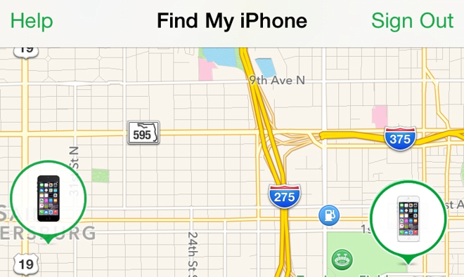 Find iPhone location