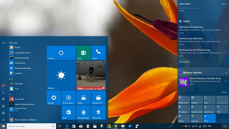 Windows 10 notification