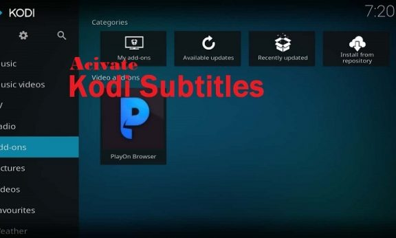 How to activate Kodi subtitles