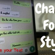 How to change whatsapp font