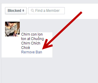 How to unblock someone from a facebook group