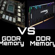 DDR vs GDDR comparison